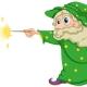 A cartoon Wizard